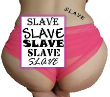 5 Pack Adult BDSM SLAVE Temporary Tattoos in 5 Different Fonts
