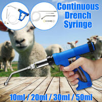 Continuous Needle Vaccinator Injection Syringe Drench Gun For Cattle Sheep