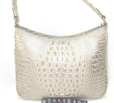 Brahmin Noelle Silver Birch Melbourne Embossed Leather Shoulder Hobo NWT $255