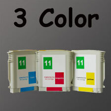 3 Compatible Ink cartridges for HP 11 C4836A C4837A C4838A Inkjet 1000 Printer