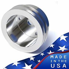 Small Block Chevy Crankshaft Pulley V-Belt 2V Crank LWP SBC 350 327 400 Aluminum