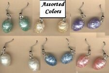 Funky EASTER EGGS EARRINGS Assorted Color Bunny Charm Toy Jewelry -1-PAIR