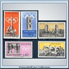 1959 Repubblica 17ª Olimpiade Roma 1960 n. 861/865 **