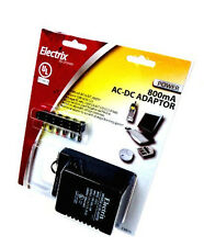 Deluxe Universal AC DC Adapter 12V 9V 7.5V 6V 4.5V 3V 1.5V Power Charger 800mA