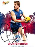 ✺Signed✺ 2017 WESTERN BULLDOGS AFL Card LACHIE HUNTER