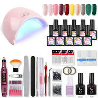 Coscelia 10Pcs Nail Art Starter Kit UV Gel Polish Soak Off 36W LED Lamp Manicure