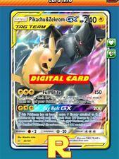 Pikachu & Zekrom GX - Regular Art -  for Pokemon TCG Online (ptcgo in Game Card)