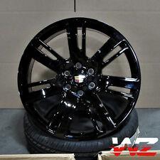 "22"" CA88 Style Gloss Black Wheels Fits Cadillac Escalade EXT Chevy GMC Platinum"
