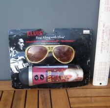 ELVIS PRESLEY toy microphone 2012 novelty Christmas songs NWT sunglasses