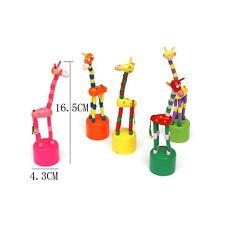 1PC Holzspielzeug Puzzles Swing-Tanz-Karikatur-Tier Schaukel Giraffe Spielzeug