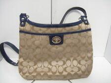 Auth COACH Penelopei Signature Shoulder Bag F19259 Khaki Navy Shoulder Bag