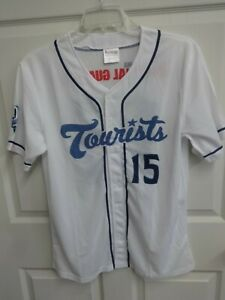 100th Anniversary 2015 MiLB Asheville Tourists SGA Button Front Jersey Men Med