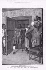 1886 - Antique Print FINE ART World Went Very Well Walter Besant Wooden Leg(156)