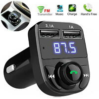 Bluetooth Car Kit FM Transmitter Wireless Radio Adapter 2 USB Charger Mp3 Player