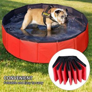 XX-Large Dog Puppy Pool Foldable Bath Swimming Pool Kids Shower Dog Whelping Box