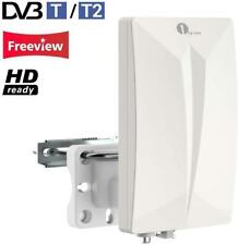 1byone Antenna TV Digitale per Interno e Esterno HDTV /DVB-T VHF / UHF / FM p...