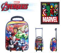 Marvel Avenger Age of Ultron Kid Toddler Kindergarten Luggage Trolley School Bag
