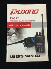 PUXING PX-777 PROFESSIONAL FM TRANCEIVER USER'S MANUAL ( ENGLISH & CHINESE)