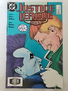 JUSTICE LEAGUE INTERNATIONAL #19 (1988) 2ND APPEARANCE OF CURRENT LOBO! GIFFEN!