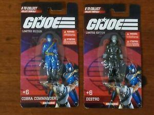GI Joe Limited Edition Mini Figures * Cobra Commander * Destro * New * Sealed