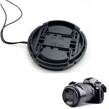 Schwarz 52mm 52 mm Objektivdeckel Mitte Schnappverschluss für Nikon + Leine NEU