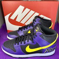Nike Dunk High Premium EMB Lakers Court Purple Size 11 Men's DH0642-001