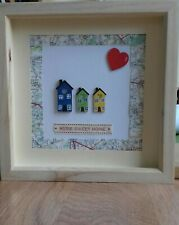 Lovely Home Sweet Home Picture Handcrafted with little wooden house detail