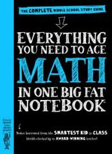 Math everything you need ace one complete big notebook middle  sch new paperback