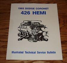 1965 Dodge Coronet 426 Hemi Illustrated Technical Service Bulletin Manual 65