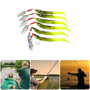 Sea Fishing Lures Spinners Sequin Soft Sand EEL Jigs Mackerel Pollock Bass Kits
