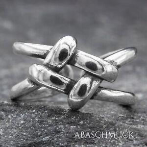 Silberring Silber 925 Ring  Verstellbar Offen R0745  Damenring Knoten Schmuck