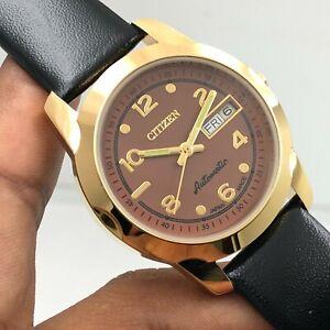 Vintage Men's Citizen 8200 Day Date 36mm Automatic 21-Jewels Wrist Watch B3091