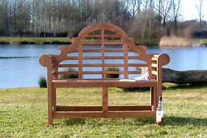 2 Seater Teak Wooden Garden Bench Outdoor Patio Seat Lutyen Chair Wood Furniture