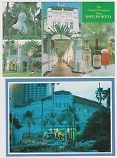 SINGAPORE - Raffles Hotel postcards x 2, The Original Singapore Sling (PC37)