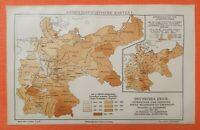 KRIMINALSTATISTIK Kriminalität  Deutschland Deutsches Reich  LANDKARTE 1905