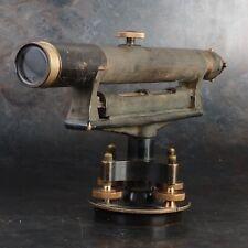 Buff Amp Buff Surveyors Level Transit 1920s Brass Telescope With Case