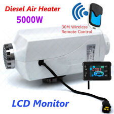 5KW 12V Air Diesels Heater Parking Heater With Remote Aluminum LCD Monitor Car