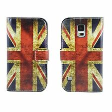 Union Jack Leather Flip TPU Stand Wallet Case For Samsung Galaxy S5 S V i9600