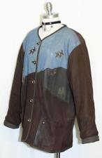 ALPHORN ~ BROWN LEATHER German Women Hunting Western Winter JACKET Coat 44 18 XL