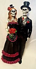 Gothic Skeleton Bride and Groom Wedding Day of the Dead Figurine Corpse Couple