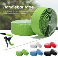2m Anti-slip Road Bike Handlebar Tape Bicycle Handle Belt Wrap Bartape Plugs