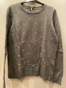 Womans Joules Grey Star Jumper Size 14
