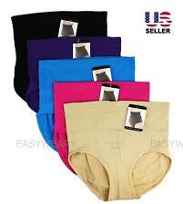 Lot 5-Pack Womens High Waist Microfiber Full Cover Underwear Panties Briefs