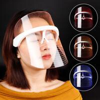 3 Colors Anti-aging Photon Therapy Light  LED Facial Mask For Skin Rejuvenation