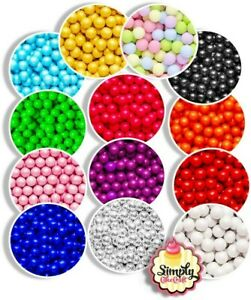 Cake Decoration Chocolate Sprinkles Balls 10mm Tasty Colourful Cupcake Toppings