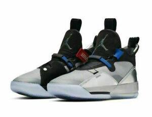 Air Jordan 33 XXXIII All Star Mens Size 11.5 Metallic Silver Black AQ8830-005
