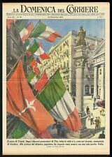 Trieste City Centre Full of Italian Flags, DDC Newspaper Cover - Molino Sep 1953