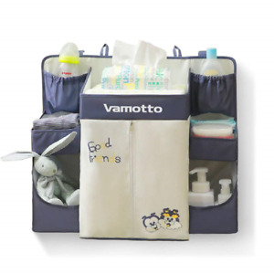 Vamotto Hanging Diaper Organizer Caddy for Crib and Cot, Newborn Baby Diaper and