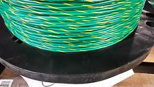 16 GAUGE WIRE GREEN W/YELLOW 1000 FT PRIMARY AWG STRANDED COPPER POWER MTW
