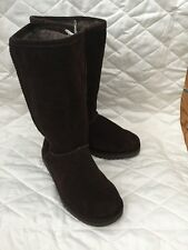 NEW Kangana Brown Suede Leather Boots Faux Fur Lining Size 7 Women's Xhilaration